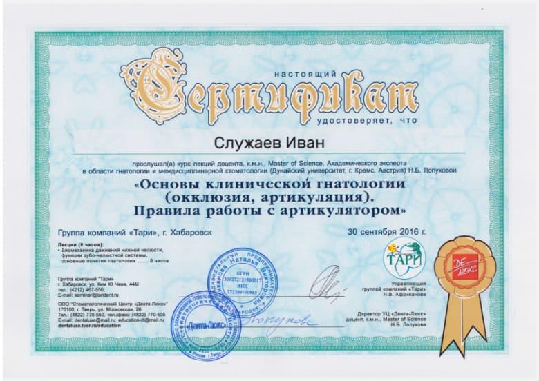 Сертификат 46