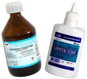 Перекись и Хлоргексидин